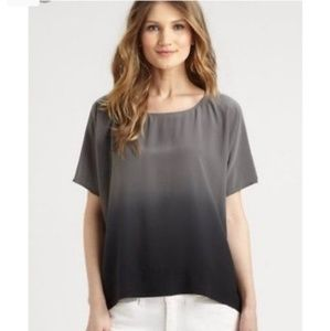 Eileen Fisher Ombré Wedge Silk Blouse